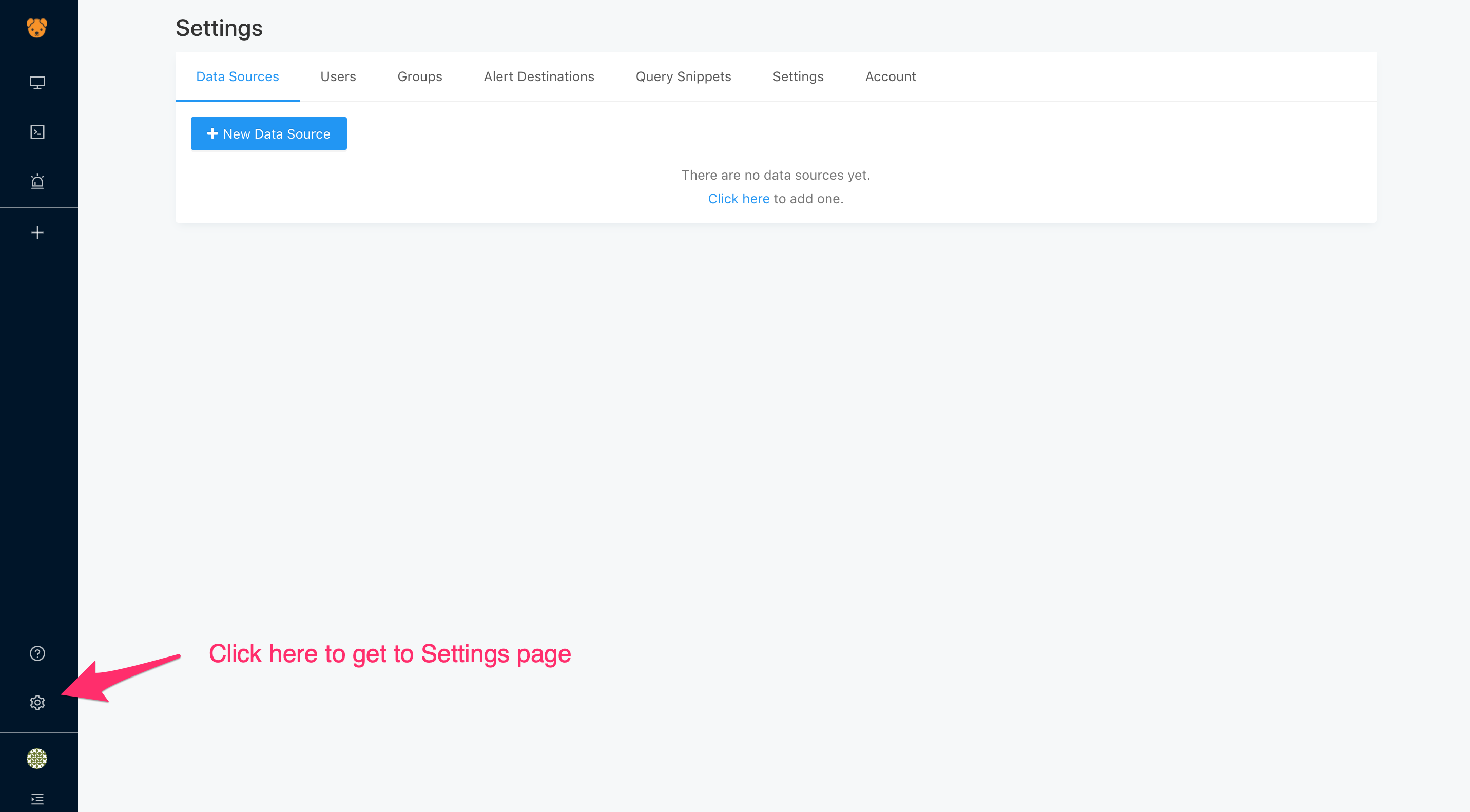 Open Settings Page